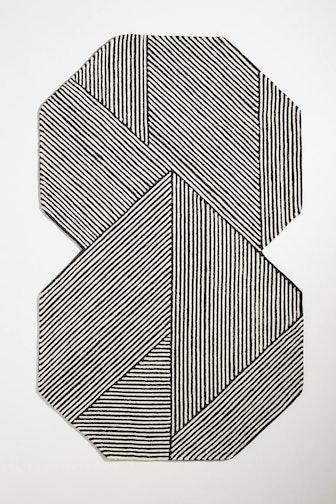 Tufted Stripe Illusion Rug