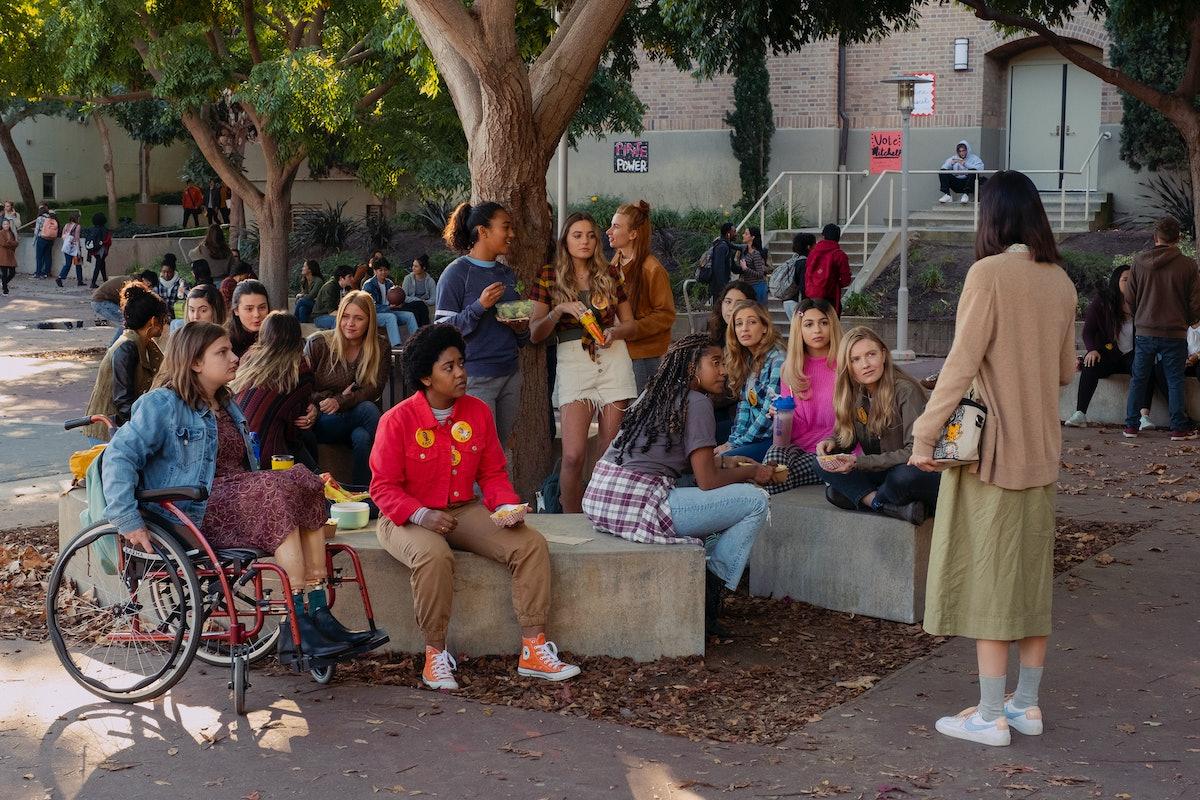 Emily Hopper as Meg, Anjelika Washington as Amaya, Sydney Park as Kiera, Sabrina Haskett as Kaitlynn...
