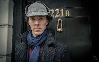 Benedict Cumberbatch portraying Sherlock Holmes. His demonstration of loci on Sherlock on the BBC sh...