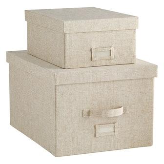 Linen Cambridge Storage Boxes