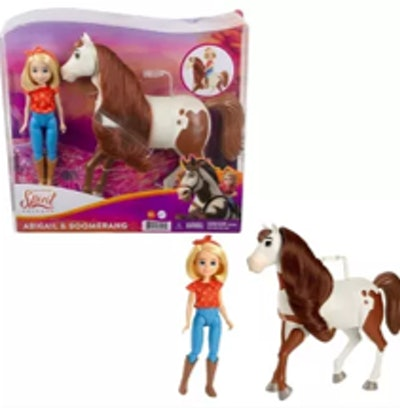 Spirit Untamed Abigail & Boomerang Doll and Horse Figures