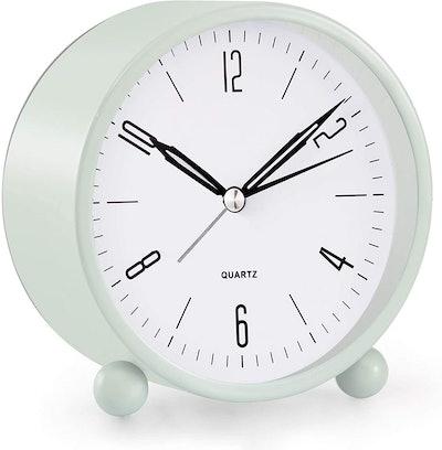 JALL Analog Non-Ticking Alarm Clock