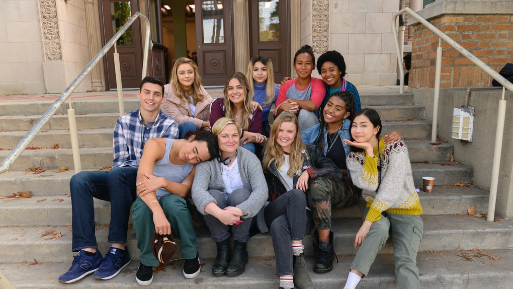 The cast of Moxie