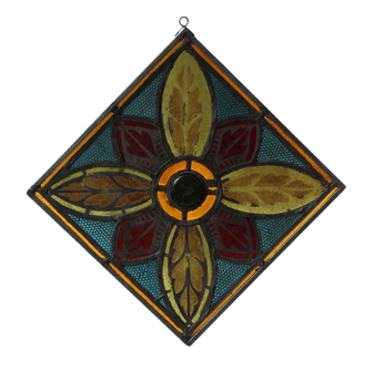 Stained Glass Panel With Metal Frame