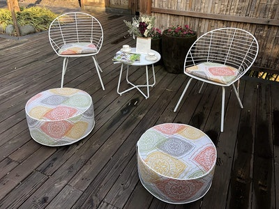 Kozyard Inflatable Stool Ottoman for Indoor or Outdoor