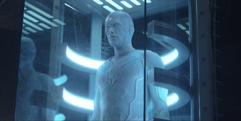 Paul Bettany as White Vision in WandaVision Episode 8