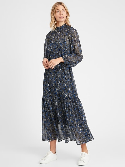 Velvet Dot Maxi Dress