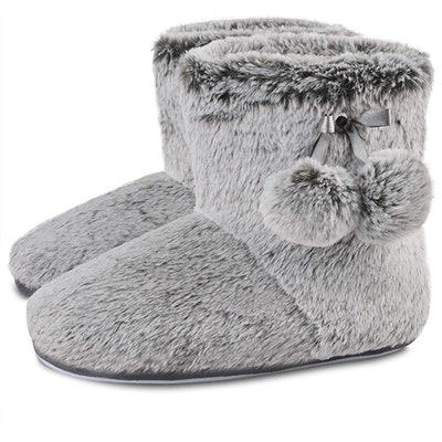 DL Fluffy Bootie Slippers