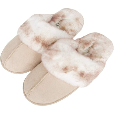 Jessica Simpson Faux-Fur House Slippers