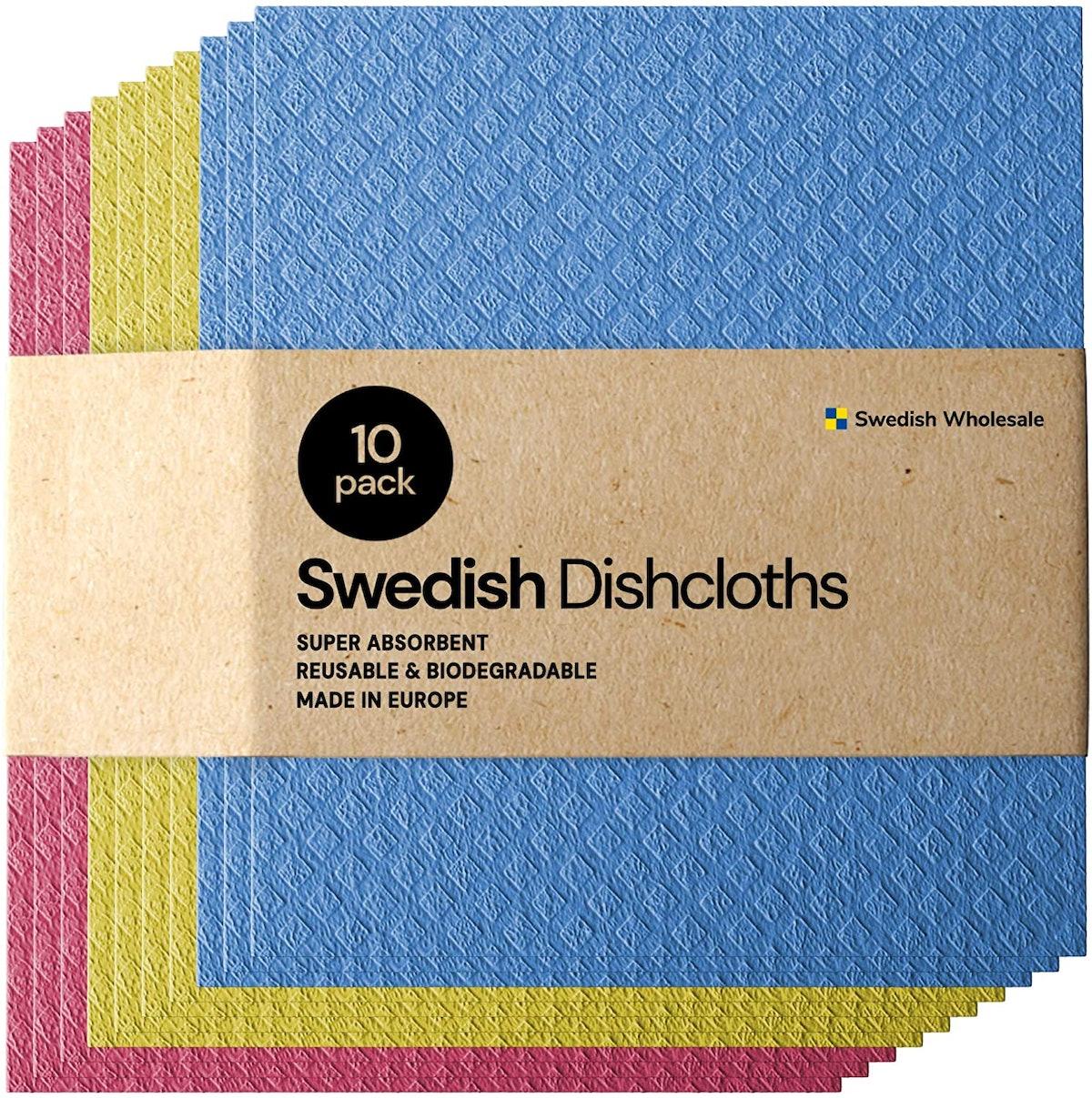 Swedish Wholesale No Odor Dishcloths (10 Pack)
