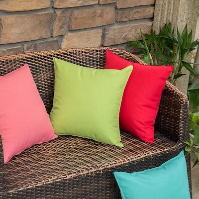 MIULEE Outdoor Waterproof Pillow Covers (2- Pack)