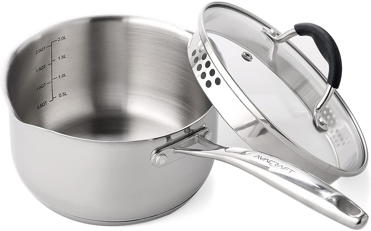 AVACRAFT Stainless Steel Saucepan With Glass Lid