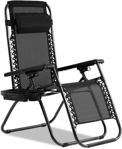 Dkeli Zero Gravity Recliner Chair with Cup Holder and Pillows