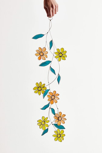 Marigold Vine Stained Glass Wall Hanging