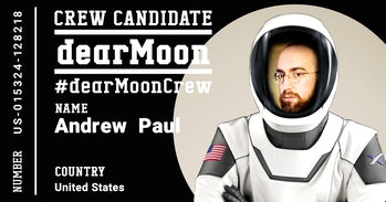 dearMoon candidate application certificate for author