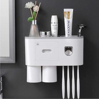 Aeakey Toothbrush Holder with Toothbrush Dispenser