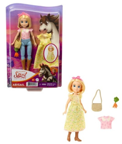 Spirit Untamed Doll, 2 Fashion Outfits & Accessories, 7 Movable Joints, 3 & Up