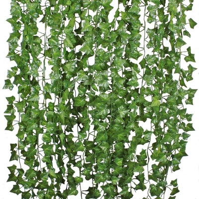 DearHouse Artificial Ivy Leaf Strands (12- Pack)