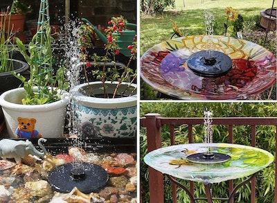 OKMEE Solar Fountain Upgraded 4-in-1 Nozzle