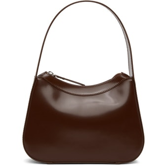 Kiki Dark Brown Semi Patent Leather Bag