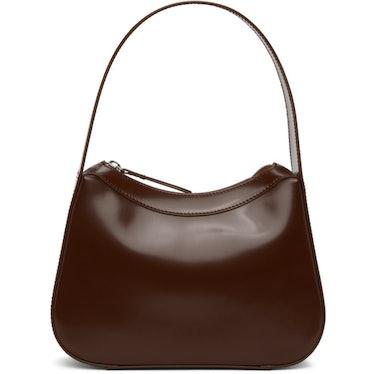 Kiki Dark Brown Semi Patent Leather Bag