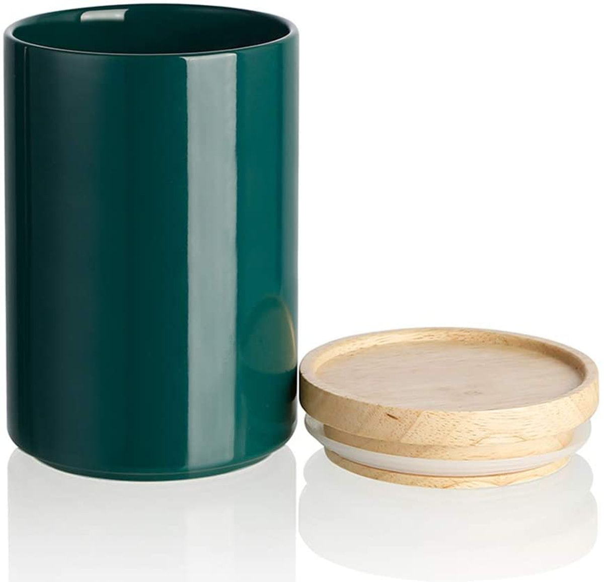 SWEEJAR Ceramic Kitchen Canister, 1 qt.