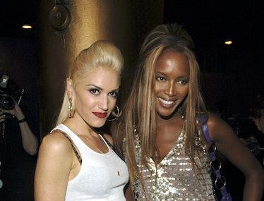 Gwen Stefani and Naomi Campbell backstage.