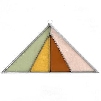 Triangle Stained Glass Suncatcher