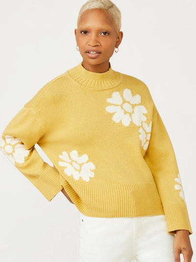 Mock Neck Sweater with Long Sleeves