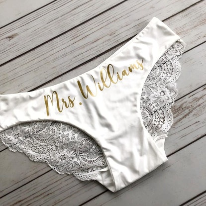 Personalized Bride Panties