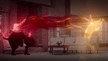 Elizabeth Olsen's Wanda Maximoff creating Vision in WandaVision Episode 8