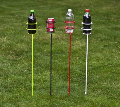 Decko Heavy Duty Outdoor Beverage Holder Stakes (4-Pack)