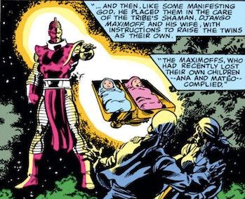 Wanda and Pietro's origin story, according to the comics.