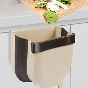 Braoses Small Hanging Trash Can for Cabinet Door