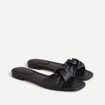 Knotted Sandals in Leather