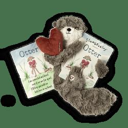"""Otter """"Family Bonding"""" Snuggler & Book"""