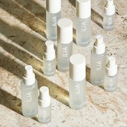 Bottles of Ilia's new Blue Light Mist.