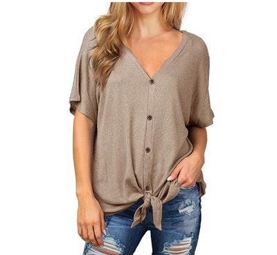 IWOLLENCE Tie Knot Top