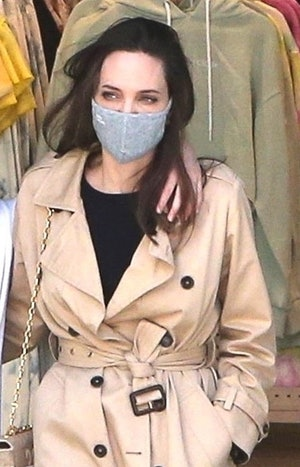 Angelina Jolie on a shopping trip in Hollywood on March 29, 2021.
