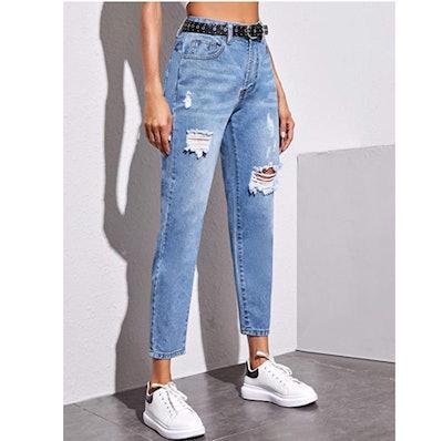 SweatyRocks Distressed Boyfriend Jeans
