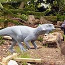 the making of the Psittacosaurus replica