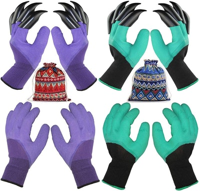 TGeng Garden Gloves With Fingertips Claws (4-Pack)