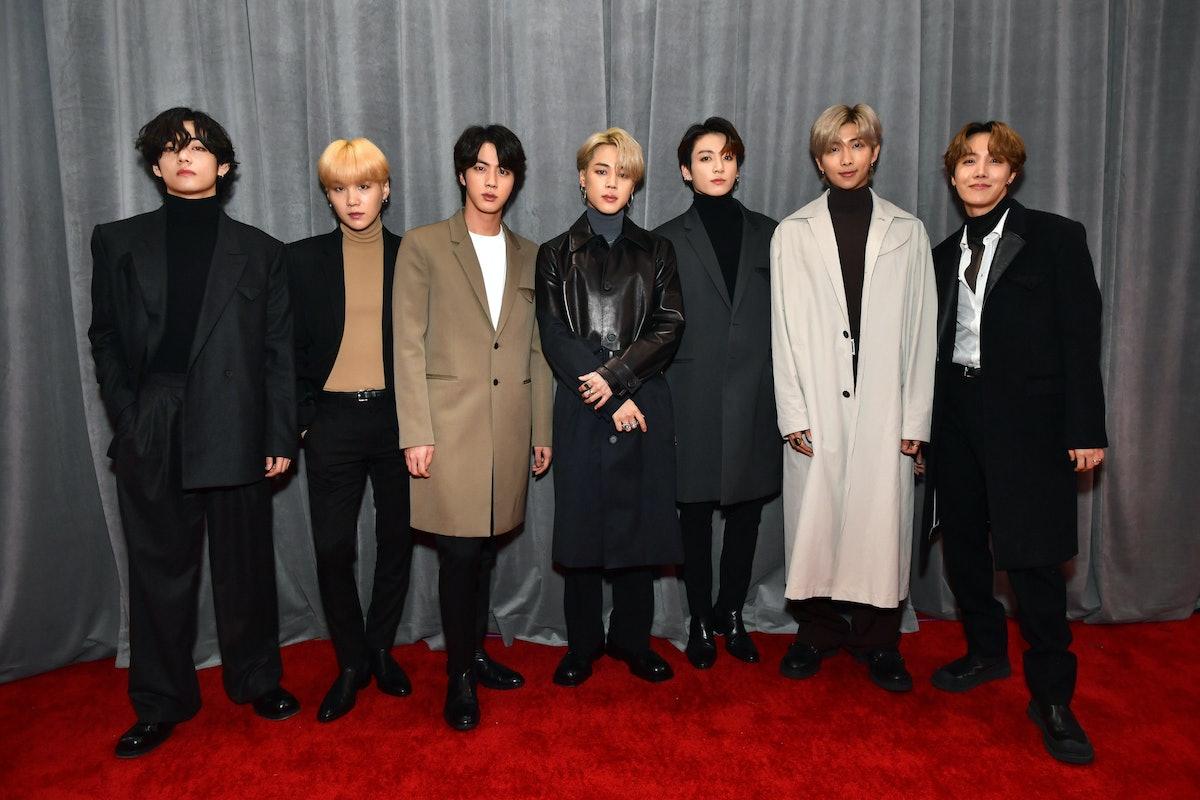 BTS at the 2020 Grammy Awards