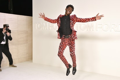 Lil Nas X attends the Tom Ford AW/20 Fashion Show at Milk Studios on February 07, 2020 in Los Angeles, California.