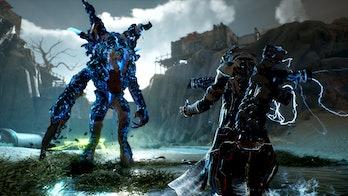 Outirders shock energy blue lightning enemy