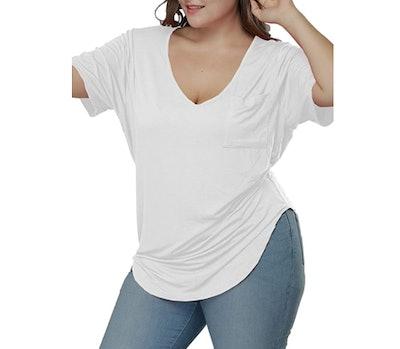Allegrace Plus Size Scoop Neck T-Shirt