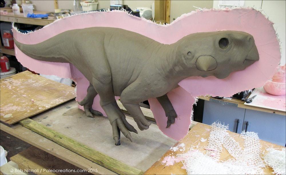 Psittacosaurus clay mold