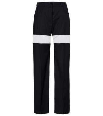High-rise Wool Straight Pants