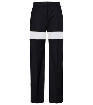 High-rise Wool Straight Pants