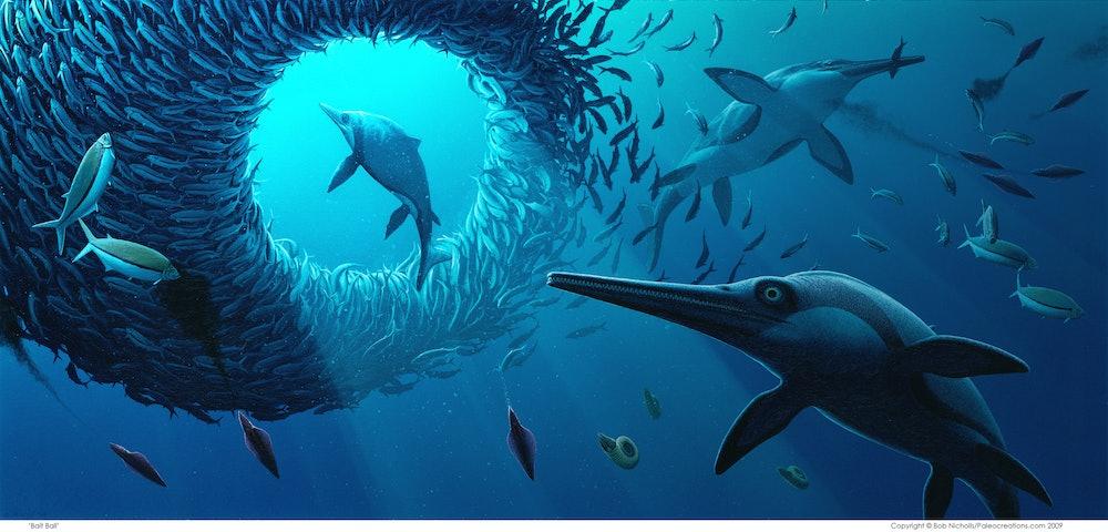Ichthyosaur artistic rendering